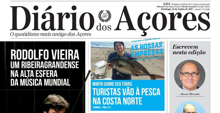 North Shore - Report in the Newspaper Diário dos Açores