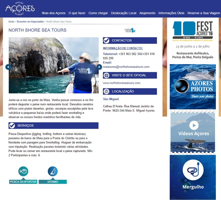 North Shore - The North Shore Sea Tours on the official site of the Azo...